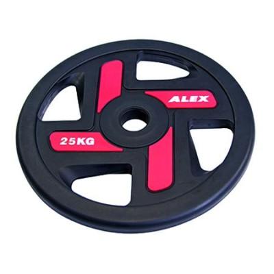 Диск черный Alex 25 кг (P-TPU-25K)