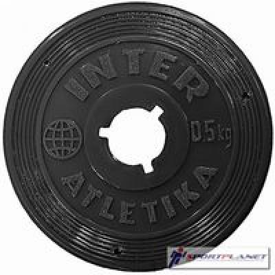Диск InterAtletika черный 0,5кг (SТ 520-1)